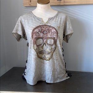 NWT Harley skull shirt